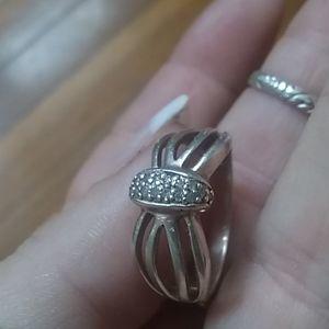 Diamond/Sterling ring